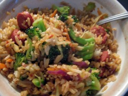 Using your leftover hot dogs to make a great tasting fried rice is a perfect way to take a great product to another level.