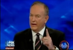 On a scale of 0-10, how wishy-washy would you rate Bill O'Reilly?