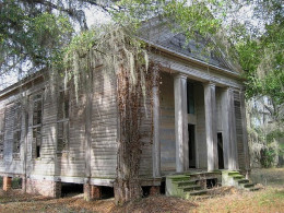 Adams Grove Presbyterian Church in Dallas County. This church is said to be one of the most haunted locations in Alabama.