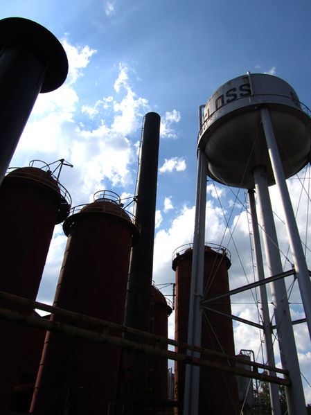 Visitors can walk through the remains of the Sloss Furnace