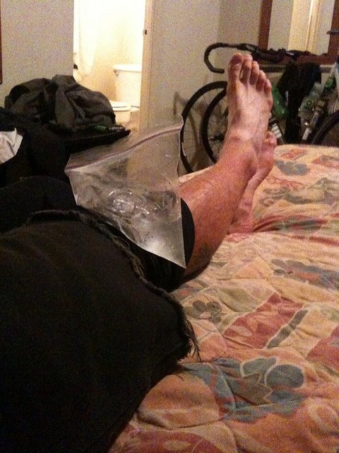 An alternative to the ice machine system is to just use zip lock bags and fill them with ice.