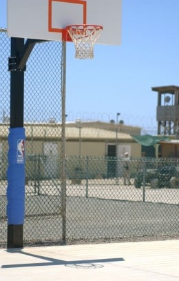 Basketball for detainees at their recreational facility