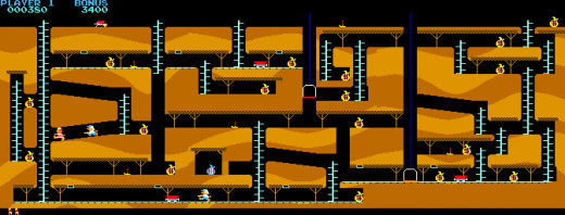 A map of all three Bagman screens and how they interconnect