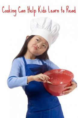 Cooking with kids helps with reading and math.