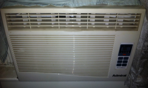 A window air conditioner, which is much smaller but just as powerful as a portable air conditioner.