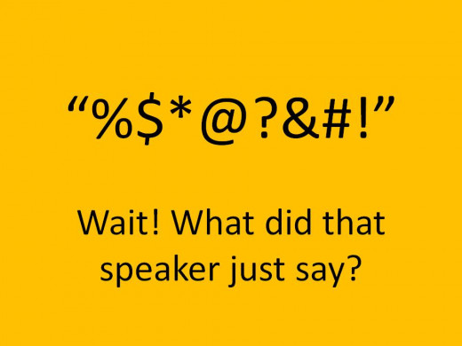 Have you ever accidentally cursed while giving a speech?