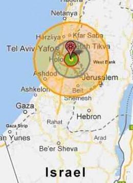 Nuclear Bomb on Tel Aviv, Israel
