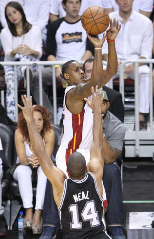 Miami Heat point guard Mario Chalmers was on fire in game 2, and finished with a game high 19 points.