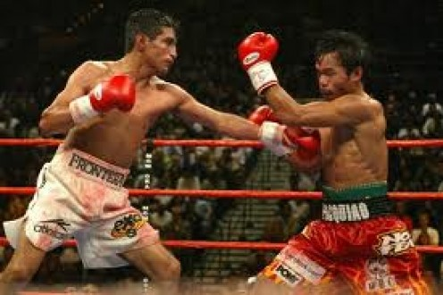 Erik Morales and Manny Pacquiao fought three times with Pacquiao winning the series 2-1.