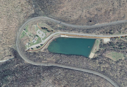 Aerial view of Horseshoe Curve