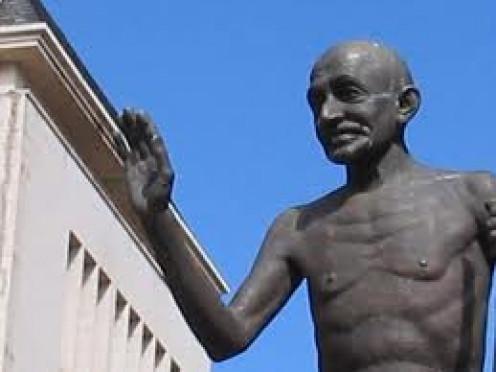 Statue of Ghandi in Pietermaritzburg, my place of birth
