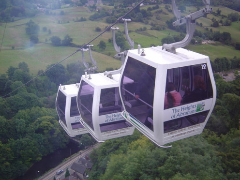 Cable Cars at Matlock Bath, heights of Abraham