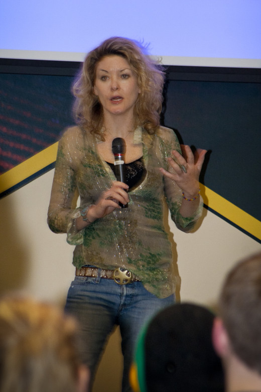 """Library of Dust""  Director Ondi Timoner speaking at Edinboro University October, 2010."