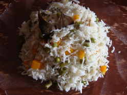 How to Make Vegetable Pulao in Microwave Oven