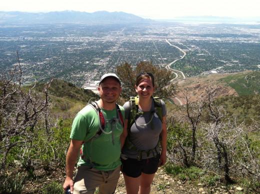 View of the Salt Lake Valley from Grandeur Peak.