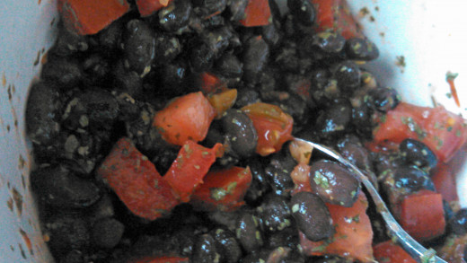 Combine black bean ingredients.