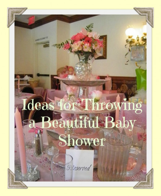 I expect to get a lot of pins from this photo that I took at a relatives baby shower. Women on Pinterest love to save ideas for decorating and parties.