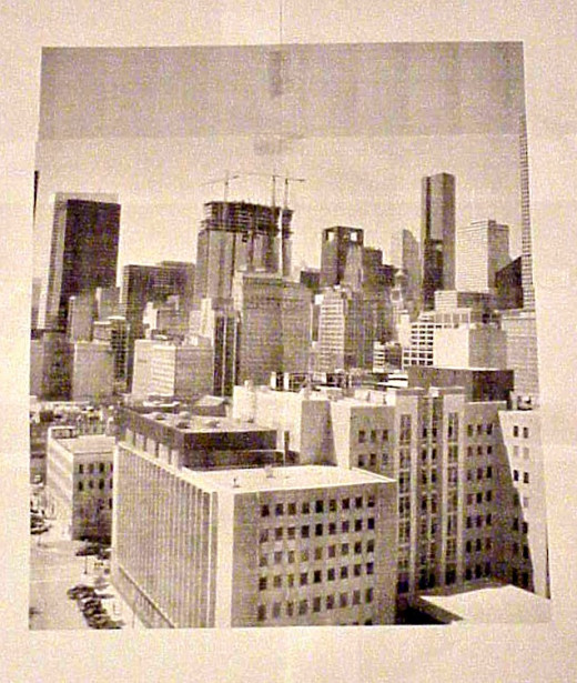 This is another poster assembled from six separate image sheets made by splitting a single digital image. The images were printed on an ordinary black-cartridge laser printer. The color tinting was done with an image editor prior to poster-making.