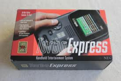 The Turbo Express handheld system was made by the Turbo Graphics 16. It had a pause button and volume buttons as well as an earphone jack.