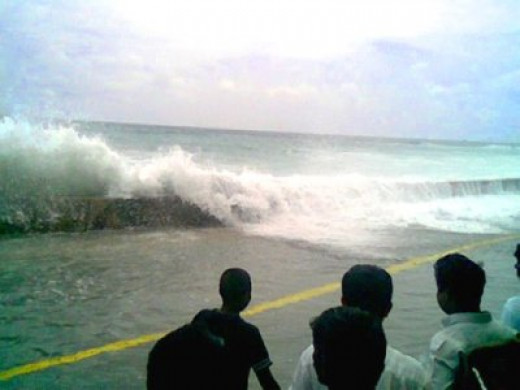 Sofwathulla Mohamed took this photo from his apartment which was entirely washed out by the tsunami that struck Male.