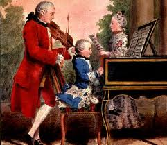 Leopold Mozart performing with Wolfgang as a child