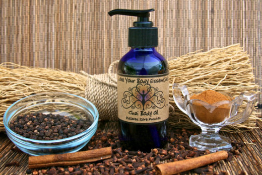This Muscle Pain Massage Oil Chai Tea Blend works to heal sore joints, muscles and arthritis.