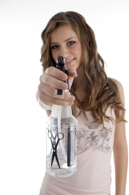 Your secret weapon in staying cool - a spray bottle!