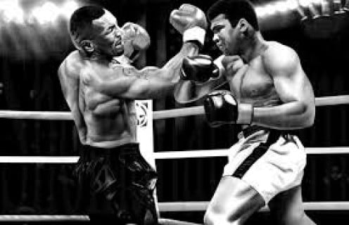 Iron Mike Tyson and Muhammad Ali would have been a great fight. But, Tyson is a top ten best heavyweight boxer ever but Ali is the number 1 best boxer in heavyweight history.