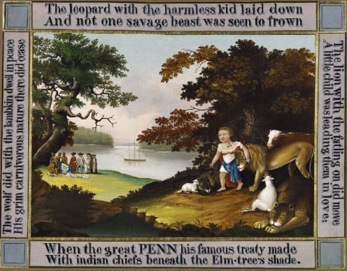 The Peaceable Kingdom - 1826  Philadelphia Museum of Art