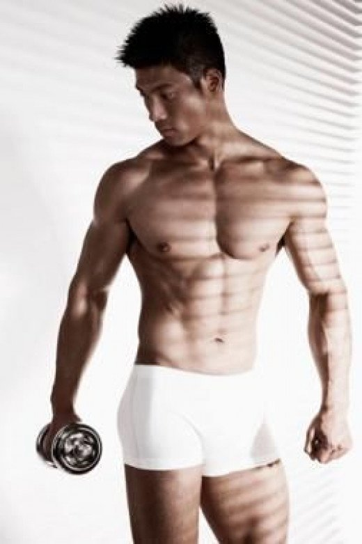 The larger the pectoral muscles, the further they will stick out from the torso, giving them a firm, toned appearance.