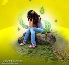 Loneliness shows in her