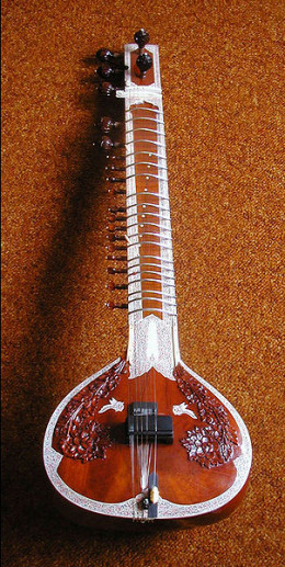 Photo of a typical Sitar