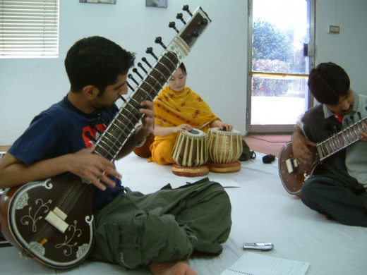 A sitar workshop
