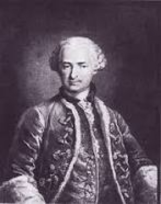 One of the few images of Count St Germain.