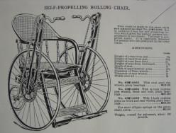 Sears Model 49W14063 Self-Propelling Rolling Chair, 1904