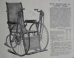 Sears Self-Propelling Wheelchair, No. 14074, 1905
