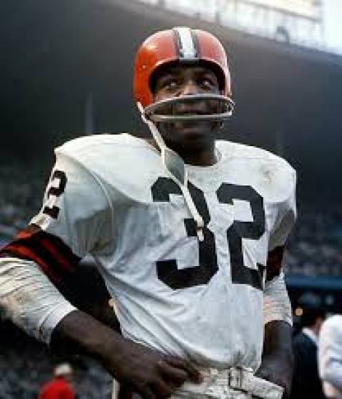 Jim Brown is a great football player that was a running back for the Cleveland Browns.