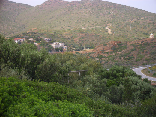 A view of the hillside in Athens