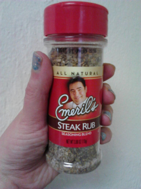 I used about 4 Tablespoons of this magical powder on top of the meat for an extra BAM.