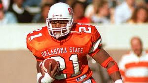 Barry Sanders was a tremendous running back for the Ohio State Buckeyes in college as well as the best running back in Detroit Lions history.