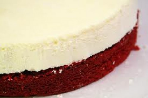 Red Velvet cheesecake is a perfect combination of cheese cake and a red velvet cake.