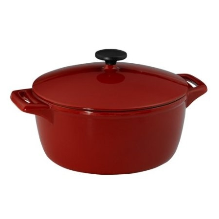 This 6.5 quart porcelain enamel, cast iron dutch oven is one of the most popular sizes in the Tramontina range and is available in Red or Blue