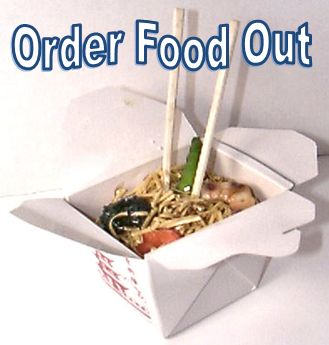 Order take out food.