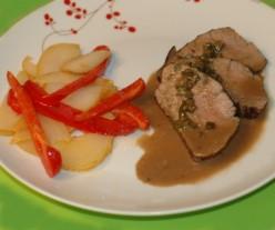 Gluten Free Dinners: Roast Pork Tenderloin Recipe with Stilton and Port Wine Sauce
