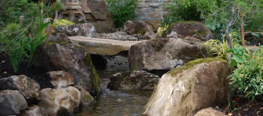 Japanese Rock Garden using boulders