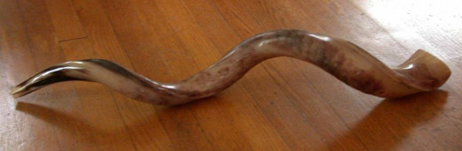 A shofar made from the horn of a greater kudu.