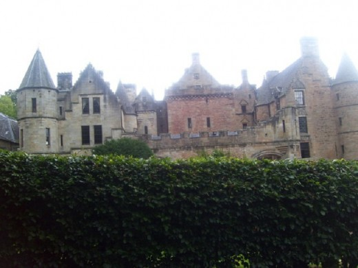 Dalzell House in Scotland has three female ghosts who walk the corridors.