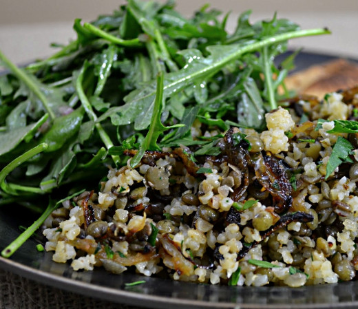 Mujadara Recipes - Authenic Lebanese Mujadara with Rice, Lentils ...