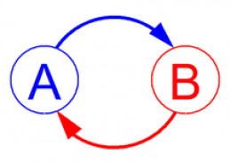 Feedback exists between two points when each affects the other.
