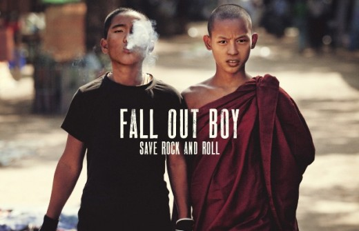 The Save Rock and Roll album cover features two burmese teenagers.